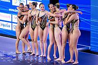 Artistic Swimming<br /> Team Free<br /> Final<br /> ISR ISRAEL<br /> BLECHER Eden<br /> BOBRITSKY Shelly<br /> DORF Maya<br /> GAZALA Noy<br /> KUNIN Catherine<br /> NAHSHONOV Nikol<br /> NASSEE Ariel<br /> PRIKAZCHIKOVA Polina<br /> RUBICHEK Neta<br /> XXXV LEN European Aquatic Championships<br /> Duna Arena<br /> Budapest  - Hungary  11/5/2021<br /> Photo Pasquale Francesco Mesiano / Deepbluemedia / Insidefoto