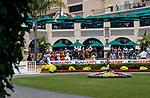 DEL MAR, CA  JULY 16: Del Mar from the paddock with crowds for the first time since 2019. (Photo by Casey Phillips/Eclipse Sportswire/ CSM)