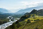 Switzerland, Canton Valais, wine village Varen near Leuk: winegrowing at Rhone-Valley | Schweiz, Kanton Wallis, Weindorf Varen bei Leuk: Weinanbau im Rhonetal