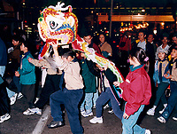 September 25, 1999 file photo, Toronto, Ontario Canada<br /> <br /> Children and their parents take part in the Mid-Fall parade near Toronto's Chinatown.<br />  <br /> <br /> Mandatory Credit: Photo by Pierre Roussel- Images Distribution. (©) 1999,Copyright by Pierre Roussel <br /> ON SPEC<br /> NOTE 8x10 print scanned AND,saved in Adobe 1998 RGB.