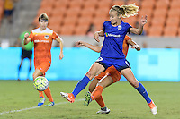 Houston, TX - Sunday Sept. 25, 2016: Beverly Yanez during a regular season National Women's Soccer League (NWSL) match between the Houston Dash and the Seattle Reign FC at BBVA Compass Stadium.