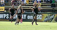 Adriane celebrates her goal. FC Gold Pride defeated Washington Freedom 3-2 at Buck Shaw Stadium in Santa Clara, California on August 1, 2009.