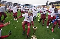 BOGOTÁ – COLOMBIA, 20-06-2021: Jugadores del Tolima celebran como campeones de la Liga BetPlay DIMAYOR I 2021 después del partido por la final vuelta entre Millonarios F.C. y Deportes Tolima jugado en el estadio Nemesio Camacho El Campin de la ciudad de Bogotá. / Players of Tolima celebrate as champions of BetPlay DIMAYOR League I 2021 after second leg final match between Millonarios F.C. and Deportes Tolima played at Nemesio Camacho El Campin Stadium in Bogota city. Photos: VizzorImage / Daniel Garzon / Cont.