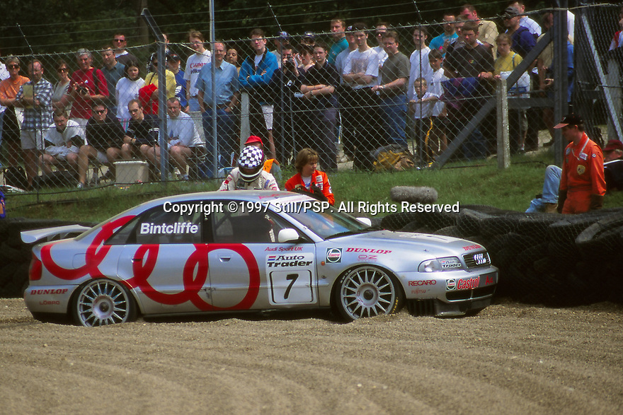 Brands Hatch Round of the 1997 British Touring Car Championship. #7 John Bintcliffe (GBR). Audi Sport UK. Audi A4 Quattro.