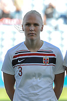 20200310 Faro , Portugal : Norwegian defender Maria Thorisdottir (3) pictured during the female football game between the national teams of New Zealand and Norway on the third matchday of the Algarve Cup 2020 , a prestigious friendly womensoccer tournament in Portugal , on Tuesday 10 th March 2020 in Faro , Portugal . PHOTO SPORTPIX.BE | STIJN AUDOOREN