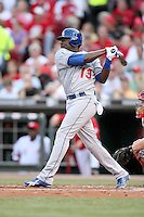 June 18, 2008:  Los Angeles Dodgers shortstop Angel Berroa (13) at The Great American Ballpark in Cincinnati, OH.  Photo by:  Chris Proctor/Four Seam Images