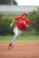 Philadelphia Phillies Luke Williams (12) running the bases during an Instructional League game against the Toronto Blue Jays on September 30, 2017 at the Carpenter Complex in Clearwater, Florida.  (Mike Janes/Four Seam Images)