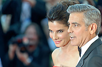 The first day at the start of the 70th Venice film festival and first Red Carpet. Venice August 28 2013. In the photo sandra bullock and George Clooney. Photo credit Adamo Di Loreto/BuenaVista*photo