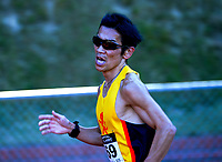 Hiro Tanimoto competes in the open 3000m. 2021 Capital Classic athletics at Newtown Park in Wellington, New Zealand on Saturday, 20 February 2021. Photo: Dave Lintott / lintottphoto.co.nz