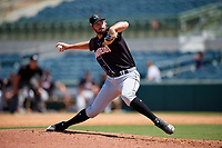 Jupiter Hammerheads relief pitcher Chad Smith (23) during a Florida State League game against the Florida Fire Frogs on April 11, 2019 at Osceola County Stadium in Kissimmee, Florida.  Jupiter defeated Florida 2-0.  (Mike Janes/Four Seam Images)