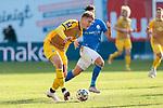 20.02.2021, xtgx, Fussball 3. Liga, FC Hansa Rostock - SV Waldhof Mannheim, v.l. Anthony Roczen (Mannheim)<br /> <br /> (DFL/DFB REGULATIONS PROHIBIT ANY USE OF PHOTOGRAPHS as IMAGE SEQUENCES and/or QUASI-VIDEO)<br /> <br /> Foto © PIX-Sportfotos *** Foto ist honorarpflichtig! *** Auf Anfrage in hoeherer Qualitaet/Aufloesung. Belegexemplar erbeten. Veroeffentlichung ausschliesslich fuer journalistisch-publizistische Zwecke. For editorial use only.