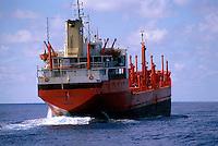 A liberian ship at sea.