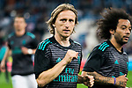 Luka Modric of Real Madrid looks on prior to the La Liga 2017-18 match between Real Madrid and Athletic Club Bilbao  at Estadio Santiago Bernabeu on April 18 2018 in Madrid, Spain. Photo by Diego Souto / Power Sport Images