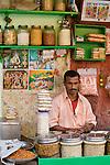 Grain seller, Kolkata, India