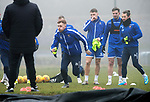 St Johnstone Training…….07.02.20<br />Liam Craig pictured during a foggy training session at McDiarmid Park this morning ahead of tomorrows Scottish Cup game at Ayr.<br />Picture by Graeme Hart.<br />Copyright Perthshire Picture Agency<br />Tel: 01738 623350  Mobile: 07990 594431