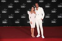 Amir et Lital Haddad arrivent sur le Tapis Rouge / Red Carpet avant la Ceremonie des 19 EME NRJ MUSIC AWARDS 2017, Palais des Festivals et des Congres, Cannes Sud de la France, samedi 4 novembre 2017.