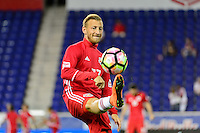 Harrison, NJ - Thursday Sept. 15, 2016: Daniel Royer before a CONCACAF Champions League match between the New York Red Bulls and Alianza FC at Red Bull Arena.
