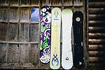 Snowboards in Jackson