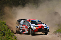 23rd May 2021; Felgueiras, Porto, Portugal; WRC Rally of Portugal, stages SS16-SS20;  Sebastien Ogier -Toyota Yaris WRC