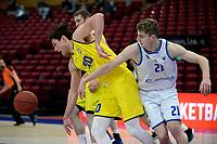 11-05-2021: Basketbal: Donar Groningen v Den Helder Suns: Groningen,  Donar speler Henry Caruso met Den Helder speler Bolden Brace