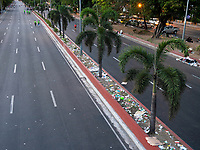 Rubbish on the streets of Manila after the World Poverty Day, Philippines