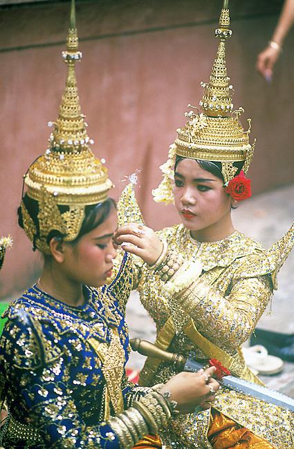 Khmer Dancers, Wat Phnom, Chaul Chhnaim New Year's, Phnom Penh, Cambodia