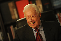 NEW YORK, UNITED STATES - MARCH 25: Former United States' President, Jimmy Carter promotes his new book 'A Call To Action Women, Religion, Violence, and Power' at Barnes & Noble, worldwide known bookseller at 5th Avenue, on March 25, 2014 in New York, United States<br /> <br /> <br /> People:  Jimmy Carter<br /> <br /> Transmission Ref:  MNC1<br /> <br /> Must call if interested<br /> Michael Storms<br /> Storms Media Group Inc.<br /> 305-632-3400 - Cell<br /> 305-513-5783 - Fax<br /> MikeStorm@aol.com<br /> www.StormsMediaGroup.com