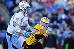 Face-Off Classic: Midfielder John Ranagan #31 Hopkins moves up field during the UMBC v Johns Hopkins mens lacrosse game at M&T Bank Stadium on March 10, 2012 in Baltimore, Maryland. (Ryan Lasek/ Eclipse Sportswire)