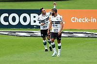 4th October 2020; Couto Pereira Stadium, Curitiba, Parana, Brazil; Brazilian Series A, Coritiba versus Sao Paulo;  Robson of Coritiba celebrates his goal in the 6th minute for 1-0 from a direct free kick