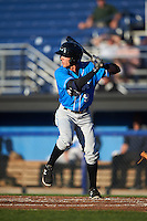Hudson Valley Renegades second baseman Miles Mastrobuoni (9) at bat during a game against the Batavia Muckdogs on August 2, 2016 at Dwyer Stadium in Batavia, New York.  Batavia defeated Hudson Valley 2-1.  (Mike Janes/Four Seam Images)