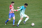 Atletico de Madrid's Saul Niguez (l) and FC Barcelona's Andre Gomes during Spanish Kings Cup semifinal 1st leg match. February 01,2017. (ALTERPHOTOS/Acero)