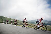 Maxime Monfort (BEL/Lotto-Soudal) & team descending the Horquette d'Ancizan<br /> <br /> Stage 12: Toulouse to Bagnères-de-Bigorre(209km)<br /> 106th Tour de France 2019 (2.UWT)<br /> <br /> ©kramon