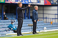 Oxford United Manager Karl Robinson left urges his players on during Portsmouth vs Oxford United, Sky Bet EFL League 1 Play-Off Semi-Final Football at Fratton Park on 3rd July 2020