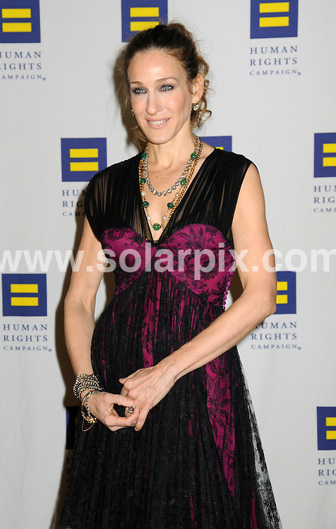 **ALL ROUND PICTURES FROM SOLARPIX.COM**.**SYNDICATION RIGHTS FOR UK, AUSTRALIA, DENMARK, PORTUGAL, S. AFRICA, SPAIN & DUBAI (U.A.E) ONLY**.Sarah Jessica Parker at the 9th Annual Greater New York Human Rights Campaign Gala. Held at the Waldorf Astoria, New York City, NY, USA. 6 February 2010..This pic: Sarah Jessica Parker..JOB REF: 10627 PHZ Mayer   DATE: 06_02_2010.**MUST CREDIT SOLARPIX.COM OR DOUBLE FEE WILL BE CHARGED**.**MUST NOTIFY SOLARPIX OF ONLINE USAGE**.**CALL US ON: +34 952 811 768 or LOW RATE FROM UK 0844 617 7637**