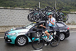 Lukas Postlberger (AUT) Bora-Hansgrohe stocks up on food from the team car during Stage 1 of Tour de France 2020, running 156km from Nice Moyen Pays to Nice, France. 29th August 2020.<br /> Picture: Bora-Hansgrohe/BettiniPhoto | Cyclefile<br /> All photos usage must carry mandatory copyright credit (© Cyclefile | Bora-Hansgrohe/BettiniPhoto)