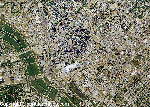 aerial photo map of Dallas, Texas, 2014.  For more recent photo maps of Dallas, Texas, pleas contact Aerial Archives.