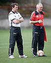 Ross Jack (left), Manager, Elgin City FC
