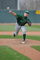 Beloit Snappers pitcher Nick Highberger (31) throws during a game against the Cedar Rapids Kernels at Veterans Memorial Stadium on April 9, 2017 in Cedar Rapids, Iowa.  The Kernels won 6-1.  (Dennis Hubbard/Four Seam Images)