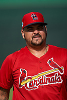 GCL Cardinals pitcher Williams Perez (56) during warmups before a Gulf Coast League game against the GCL Astros on August 11, 2019 at Roger Dean Stadium Complex in Jupiter, Florida.  GCL Cardinals defeated the GCL Astros 2-1.  (Mike Janes/Four Seam Images)