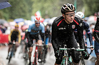 Neilson Powless (USA/Jumbo-Visma)<br /> <br /> Elite Men Road Race from Leeds to Harrogate (shortened to 262km)<br /> 2019 UCI Road World Championships Yorkshire (GBR)<br /> <br /> ©kramon