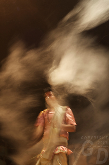 Aarti Ceremony on the Ganges River Varanasi India,