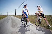 Erwin Vervecken training with 'El Tractor' Tim Declercq (BEL/Deceuninck-QuickStep) for CyclingBE Magazine<br /> <br /> ©kramon