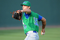 Pitcher Christian Binford (30) of the Lexington Legends before a game against the Greenville Drive on Monday, July 22, 2013, at Fluor Field at the West End in Greenville, South Carolina. Binford is the No. 26 prospect of the Kansas City Royals. Lexington won, 7-3. (Tom Priddy/Four Seam Images)
