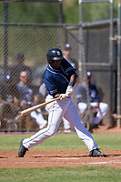 Hunter Jarmon (38) of the San Diego Padres at bat during an Instructional League game against the Texas Rangers on September 20, 2017 at Peoria Sports Complex in Peoria, Arizona. (Zachary Lucy/Four Seam Images)