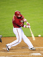 May 10, 2009; Phoenix, AZ, USA; Arizona Diamondbacks batter Ryan Roberts against the Washington Nationals at Chase Field. Mandatory Credit: Mark J. Rebilas-