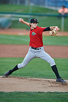 Great Falls Voyagers starting pitcher Codi Heuer (21) delivers a pitch during a game against the Ogden Raptors at Lindquist Field on August 21, 2018 in Ogden, Utah. Great Falls defeated Ogden 14-5. (Stephen Smith/Four Seam Images)