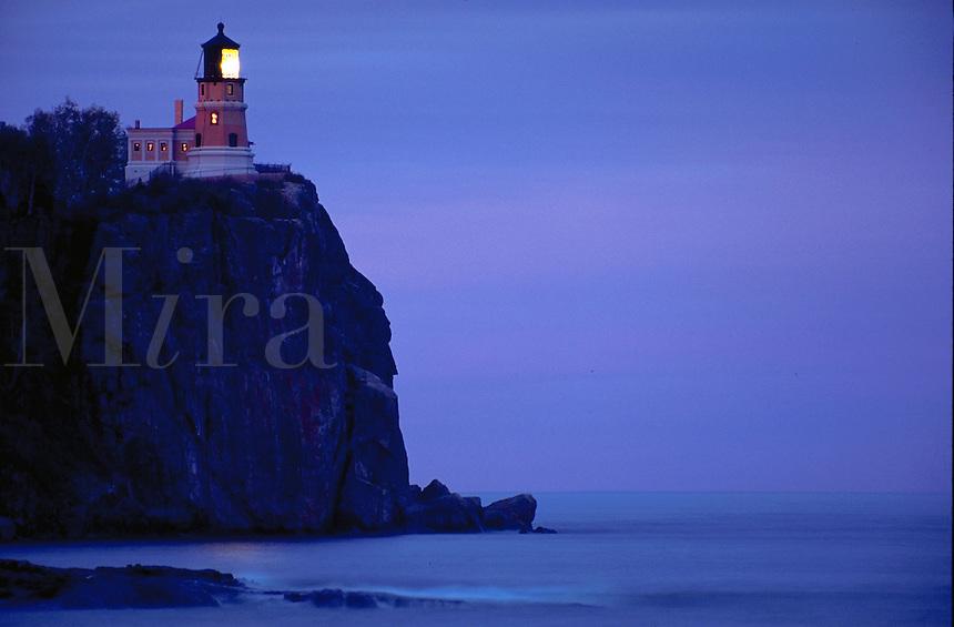 Split Rock lighthouse, Split Rock Lighthouse State Park, near Castle Danger, Minnesota, north shore of Lake Superior.