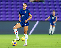 ORLANDO, FL - JANUARY 22: Lynn Williams #6 of the USWNT warms up before a game between Colombia and USWNT at Exploria stadium on January 22, 2021 in Orlando, Florida.