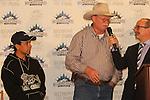 June 4, 2014: Victor Espinoza, Steven Coburn, connections of California Chrome at Belmont. Sue Kawczynski/ESW/CSM