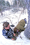 Kris & Pam Pulling Yearling Out Of Den